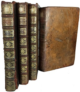 Lot 1: Van Loon, Gerard. Histoire Metallique Des XVII s des Pays-Bas, Depuis l'Abdication de Charles-Quint Jusqu'a La Paix de Bade en MDCCXVI. (La Haye: P. Gosse- J.Neulme -P. De Hondt,, 1732-37). Five parts in four volumes. From the Dr. Lawrence A. Adams library. Estimate $1500.