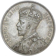 Lot 421: GEORGE V, Waitangi crown, 1935. Underlying proof-like mint bloom, lightly toned, uncirculated and rare. Estimate $5,000.
