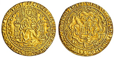 Lot 429: Henry VIII (1509-1547), second coinage, Sovereign, Whitton O1d/R4; Schneider 570/1 (same obv./rev. dies); N.1782; S.2267, very fine or better, rare. Estimated: £25,000-30,000.
