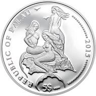Palau / 5 Dollars / Silber. 925 / 25 g / 38,61 mm / Auflage: 1500.