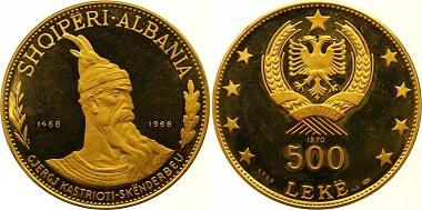 Albanien. 500 Leke.