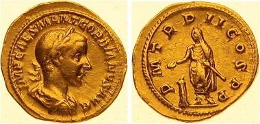 Gordian III. Aureus.