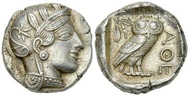 Lot 4: Athens. Tetradrachm, c. 430s BC. Estimate: CHF 2'500.