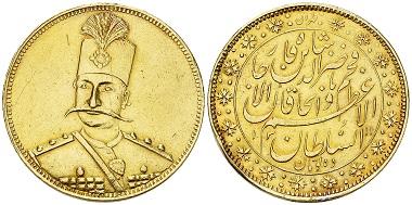 Lot 198: Iran. 10 Tomans 1311 AH. Estimate: CHF 12'000.