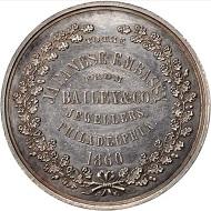 Lot 31032: 1860 Japanese Embassy medal. Baker-368. Silver. 53 mm. MS-60 (NGC).