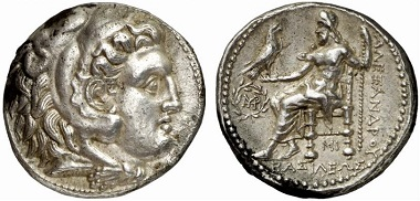 Alexander III, 336-323. Tetradrachm, 317-311, Babylon. From Gorny & Mosch auction sale 164 (2012), 164.