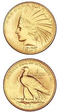 1907 $10 Satin PR67 NGC