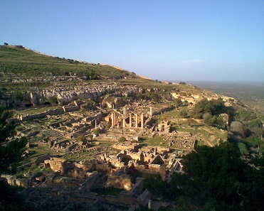 These impressive ruins have been preserved from the city of Cyrene in Libya. Photograph: Maher27777 / Wikicommons.
