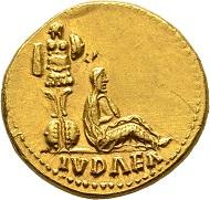 Rom. Vespasianus, 69-79. Aureus 69/70. C. 225; RIC II/1, 1. Prachtexemplar.