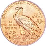 1909-O half eagle MS66 PCGS.