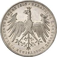 Lot 140: FRANKFURT. Double gulden 1848,