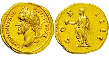 491: Römisches Kaiserreich. Antoninus Pius. 138-161 n. Chr. Aureus. Taxe Euro 8000,-