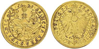 Lot 845: Augsburg, Goldgulden 1628.