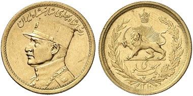 Reza Shah, 1925-1941. 1 Pahlavi 1931. From Künker auctions sale 251 (2014), 3281.