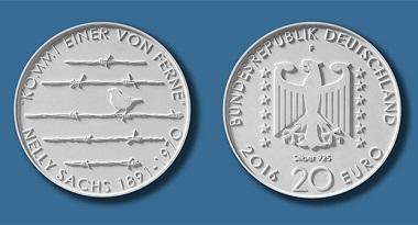Die neue 20-Euro-Gedenkmünze. Quelle: BADV