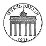Die neue Gedenkmünze zu Ehren von Hans-Dietrich Genscher: .333 Silber / 32,5 mm / Gestaltung: Stefanie Lindner, Katharina Naudszus, Münze Berlin.
