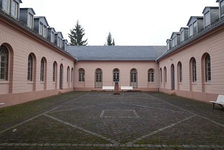 The courtyard of the Karlsruhe Mint. Photograph: UK.