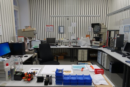 The laboratory where blanks and coins are examined. Photograph: UK.