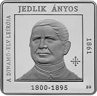 Anyos Jedlik and the principle of the self-excitation in 1861 - 1.000 HUF - CuNi - 14 g - 28,43 x 28,43 mm - 10.000 BU & 10.000 Proof - designer: BITO Balazs - date of issue: January 11, 2011.