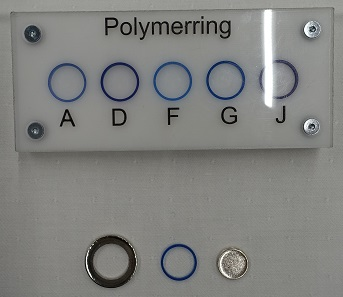 The polymer rings for the blanks intended to be used in the different mints. Photograph: UK.
