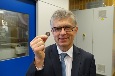 Mint Director Dr Peter Huber, one of the fathers of the polymer coin. Photograph: UK.