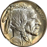 Lot 13035: 1926-S Buffalo Nickel. MS-65+ (NGC). Sold $64,625.