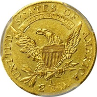 Lot 13156: 1808 Capped Bust Left Quarter Eagle. BD-1, the only known dies. Rarity-4. MS-61 (PCGS). Secure Holder. Sold $223,250.