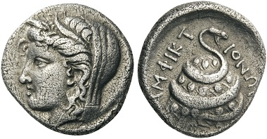 Lot 58: PHOKIS, Delphi. Amphictionic issues, circa 336-334 BC. Hemidrachm. BCD 389. SNG Berry 585. Of great rarity, one of only four known examples. Good very fine. Estimate: 15,000 CHF.