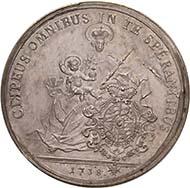 BAYERN. Karl Albert, 1726-1745. Taler 1738, München. Dav. 1942. Hahn 248. Aus der kommenden Auktion Künker 184 (2011), 4085. Schätzung: 5.000 Euro.