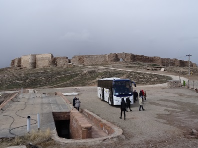 Infrastructure of the World Heritage Site Takht-e Soleyman. Photo: KW.