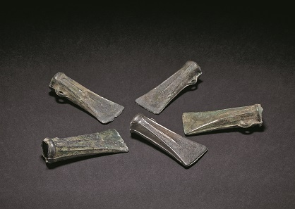 Bronze Age socketed axes from the Salisbury hoard. © The Trustees of the British Museum.