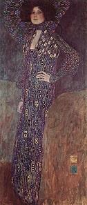 Emilie Floge, as painted by Gustav Klimt in 1902. Vienna Museum.