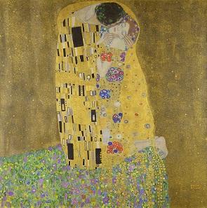 Gustav Klimt, The Kiss, 1907-1908. Belvedere Palace Museum, Vienna.