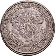 BAVARIA. Maximilian I, 1598-1651. Reichstaler 1618, Munich. Dav. 6064. Hahn 62 a. From the upcoming auction Künker 184 (2011), 4062. Estimate: 1,000 Euros.