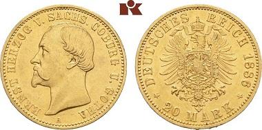 Sachsen-Coburg-Gotha Ernst II. 20 Mark.