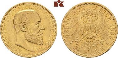 Sachsen-Coburg-Gotha Alfred. 20 Mark.