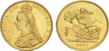 Großbritannien Victoria. 5 Pounds.