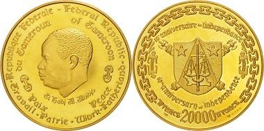 Kamerun. 20000 Francs.
