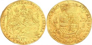 Belgien-Tournai Albert und Isabella. 2 Souverain d'or Gold.