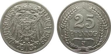 Kaiserreich. 25 Pfennig