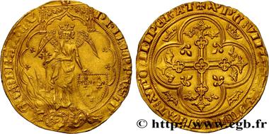 Lot 165: Philip VI of Valois Ange d'or n.d. 1341. aEF/EF. Estimate: 12,000 euros.