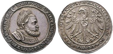 Los 19: Sachsen. Friedrich III. all. 1486-1525. Guldengroschen o.J. (1512) Stempelschneider Ulrich Ursenthaler. Vzgl. Schätzpreis: 10.000 Euro.