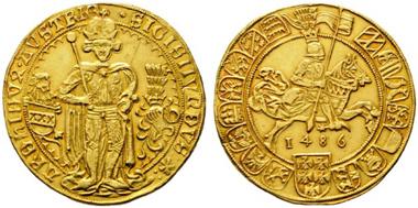 Los 49: Erzherzog Sigismund 1439-1496. 7 Dukaten 1486. Vzgl. Schätzpreis: 200.000 Euro.