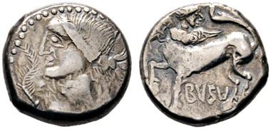 Los 1209: Busu. Hexadrachme. Dembski 627-629 (stgl.), Göbl, Gross-Boier IV/1. RR. S.sch. Schätzpreis: 1.400 Euro.