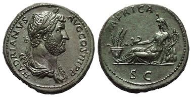 Lot 214: HADRIANUS (117-138 AD). Sestertius. 136 AD. Rome.