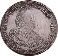 HATZFELD. Melchior, 1630-1658. Reichstaler o. J. (spätere Prägung von 1666). Dav. 6709. Aus der kommenden Auktion Künker 184 (2011), 4491. Schätzung: 1.500 Euro. - Melchior von Hatzfeldt-Gleichen besuchte das Jesuitenkollegium von Fulda, wo er die Weihung zum Diakon erhielt.