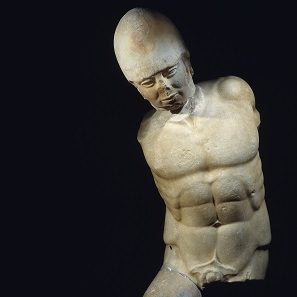 Marble statue of warrior, Akragas, Sicily, c.470 BC. Museo Archeologico Regionale di Agrigento. © Regione Siciliana.