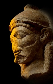 Limestone head from a temple. Selinous, Sicily, c. 540-510 BC. Museo Archeologico Regionale A Salinas, Palermo. © Regione Siciliana.