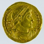 Roman Empire, Jovian, 363-64, gold solidus. Source: Princeton University Numismatic Collection, Department of Rare Books and Special Collections, Firestone Library.