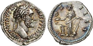 Roman Imperial. Antoninus Pius. Denarius.